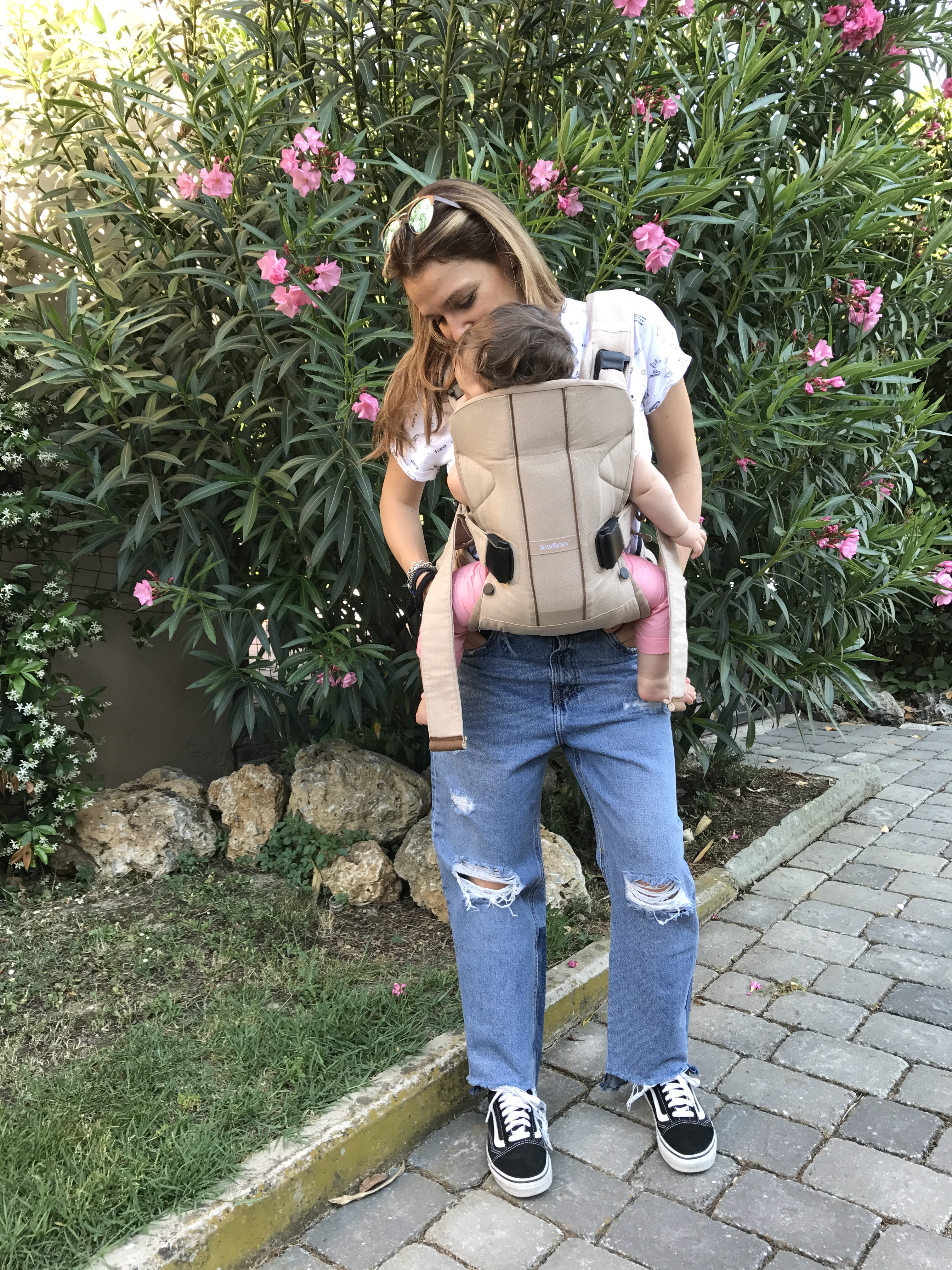 baby wearing babybjorn