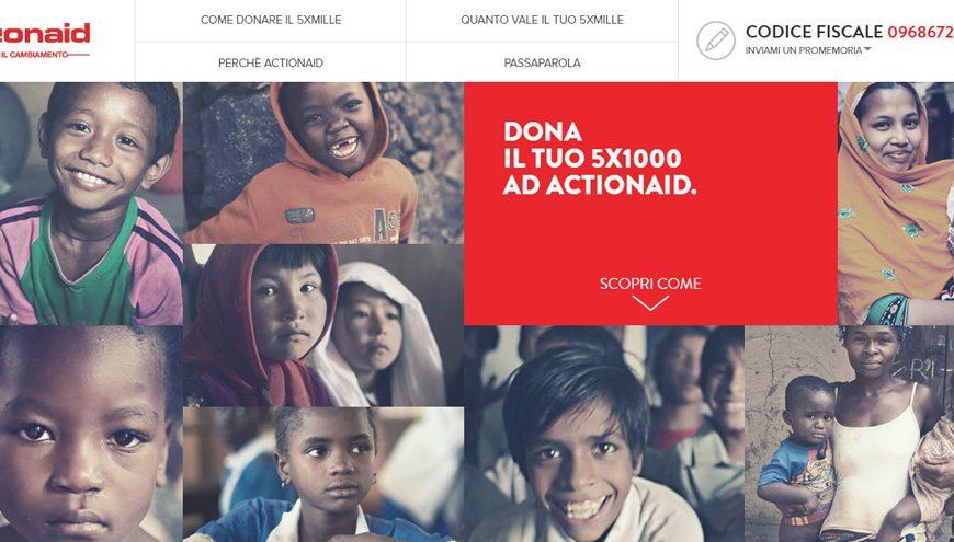 Donare il 5×1000 a Actionaid